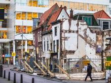 Sloop van historische panden in Haags centrum: scherp contrast tussen oud en nieuw