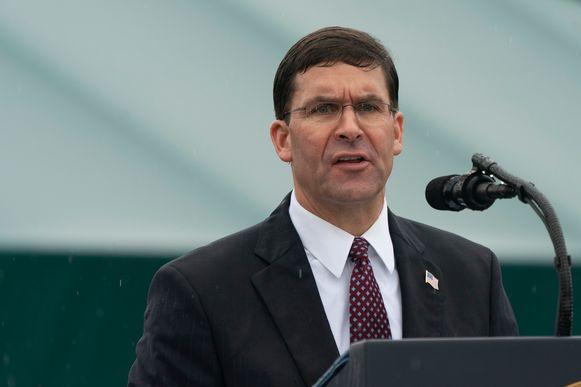 Amerikaans minister van Defensie Mark Esper.
