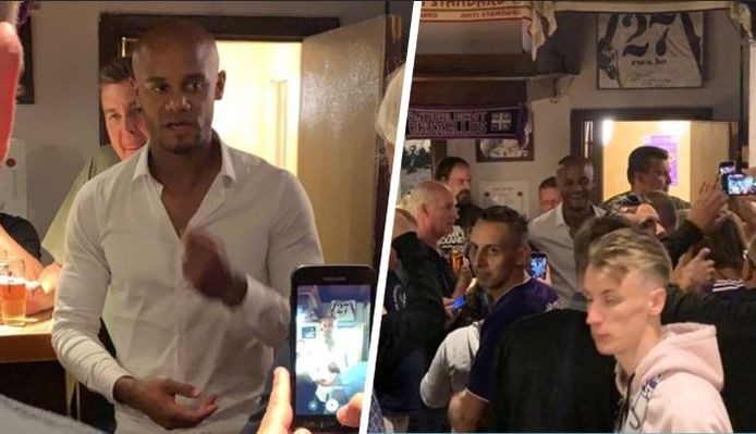 Kompany in 'Café Le But'