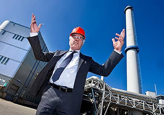 Hennie van der Most op de plek waar Speelstad Rotterdam in 2017 open moet gaan.