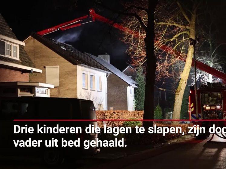 Vader breekt hiel bij reddingsactie drie slapende kinderen