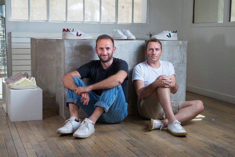 Veja-oprichters Sébastien Kopp en Francois-Ghislain Morillion. Beeld rv