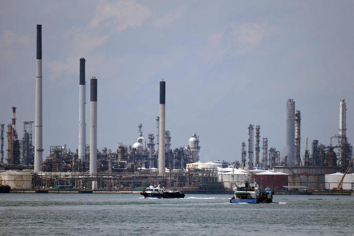 Olieraffinaderij in Singapore. Beeld ter illustratie.