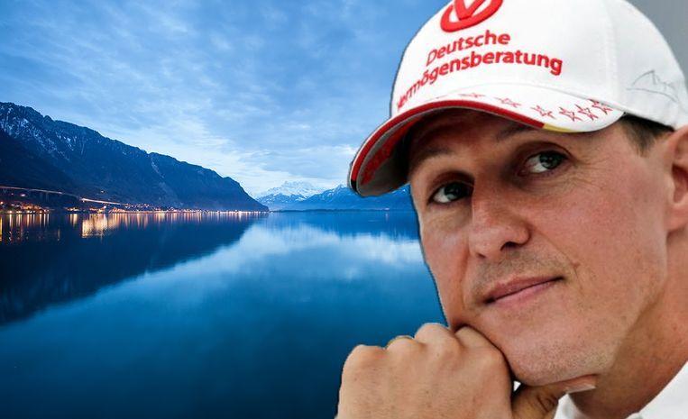 Schumacher woont in een riante villa aan het Meer van Genève.