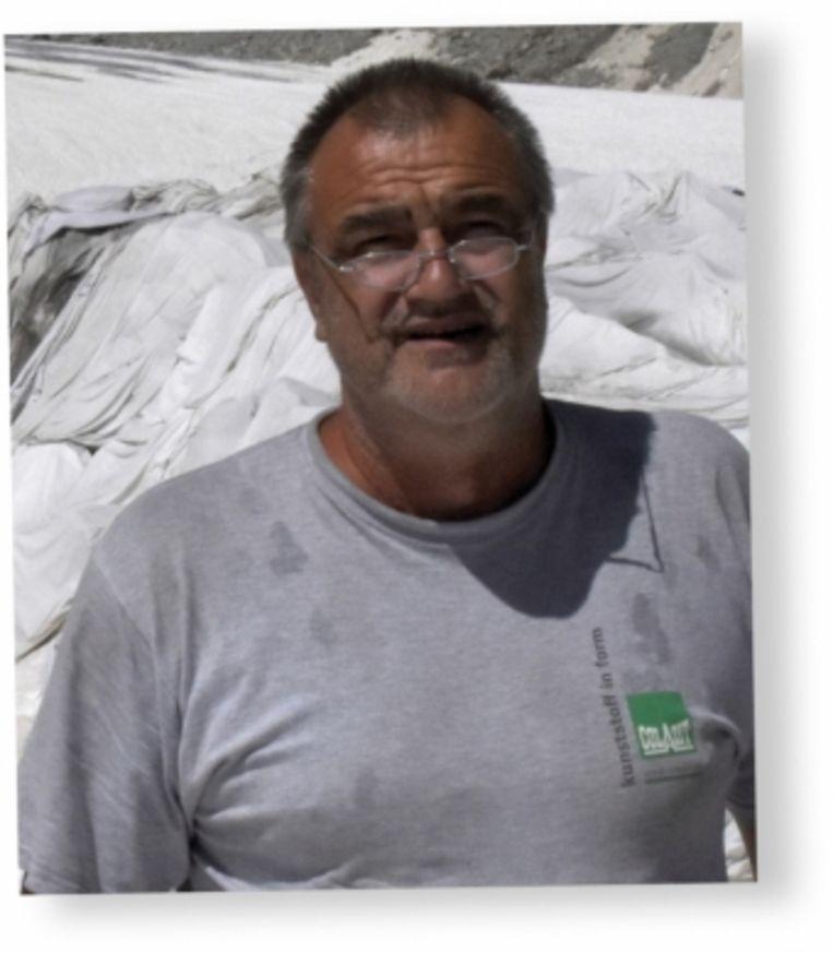 Bouwvakker Andreas werd klimaatbewust na het zien van de smeltende Rhônegletsjer: 'Sinds ik dit heb gezien, is mijn denken helemaal veranderd.' Beeld