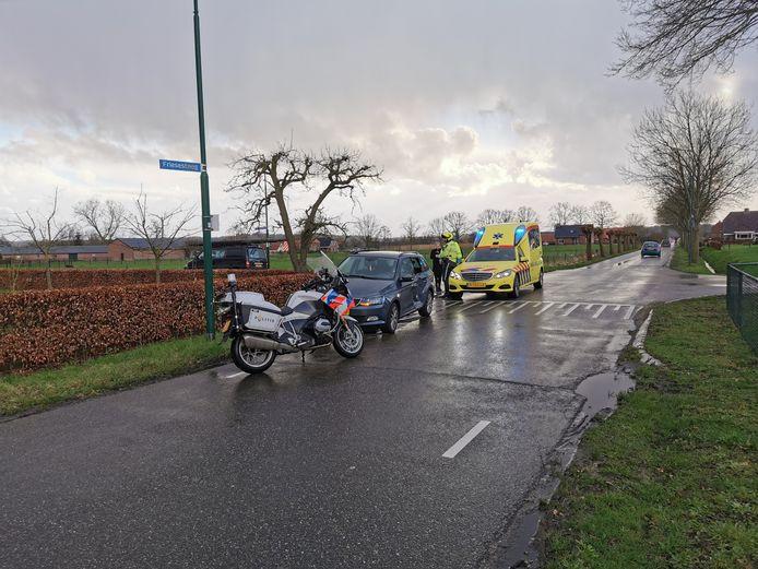 Aanrijding op de Friesesteeg in Rhenen.