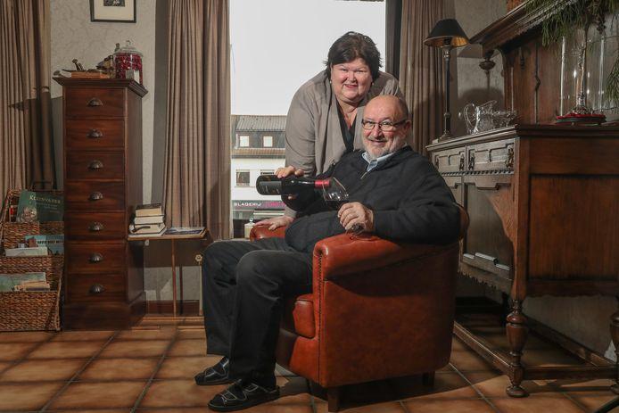 Luc Asselman et Maggie De Block à leur domicile.