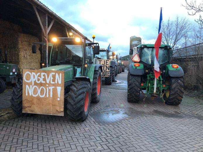 In februari werd er stevig geprotesteerd door boeren.