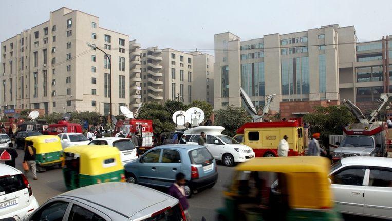 De omgeving van het gerechtsgebouw in New Delhi Beeld epa