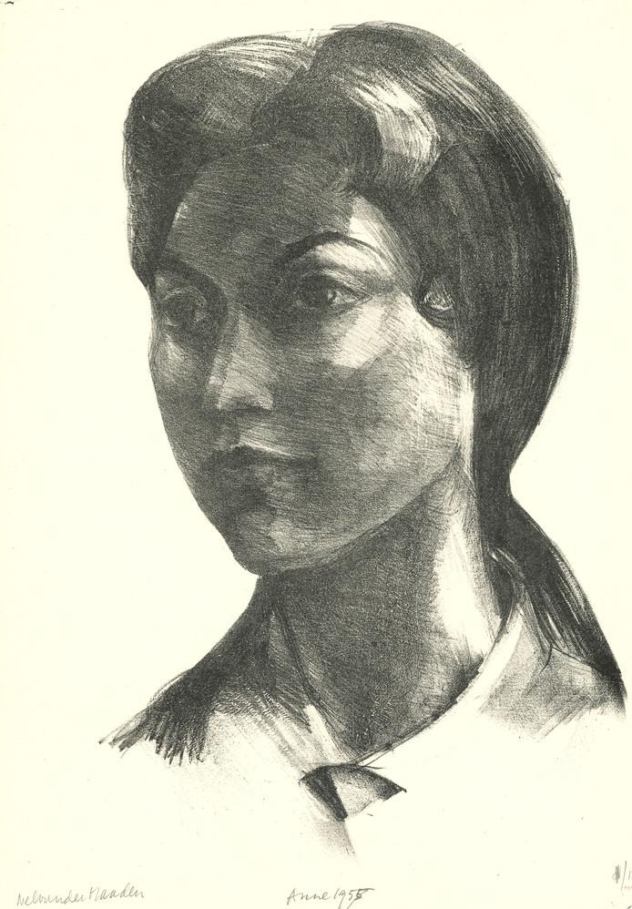 Nel van der Maaden: Anne Troye, litho, 1955.