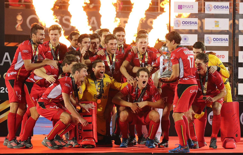 België werd in december in India wereldkampioen hockey.