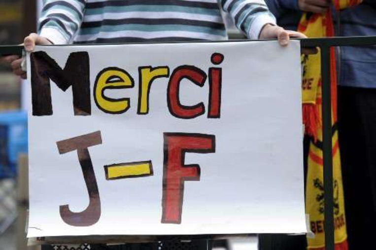 De boodschap voor Jean-François de Sart was duidelijk. Beeld UNKNOWN