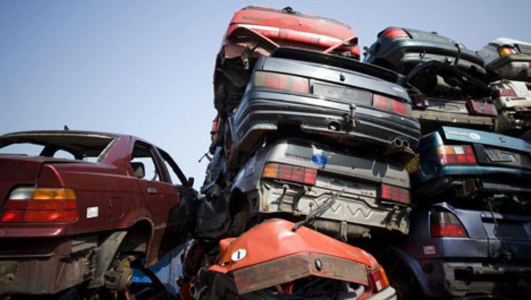 Minimaal 95 procent van de autowrakken moeten hergebruikt worden. Foto ANP Beeld