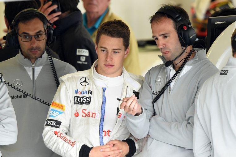 Als 'Test en Development Driver' van McLaren vorig jaar in Silverstone.