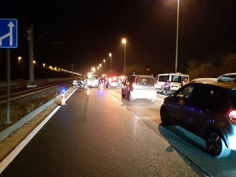 De verkeerscontroles vonden plaats langs de Koninklijke Baan.
