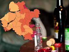 Deze drie gemeenten herbergen de zwaarste drinkers in de regio (maar bij de buren gaat het nog harder)
