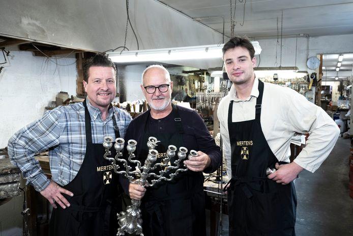 Thierry, Michel en Gauthier Mertens