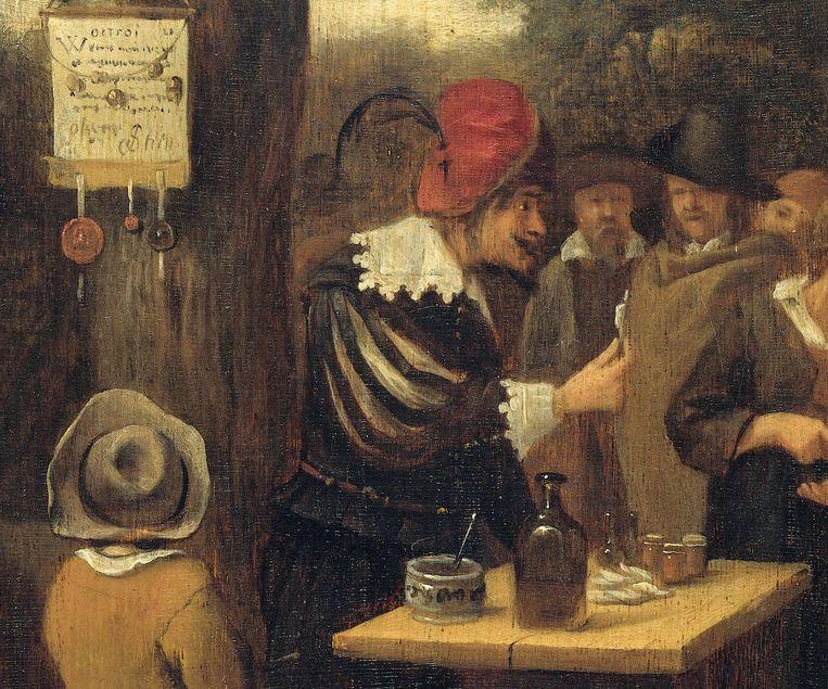 Jan Steen (toegeschreven), Detail uit De kwakzalver. Beeld Rijksmuseum
