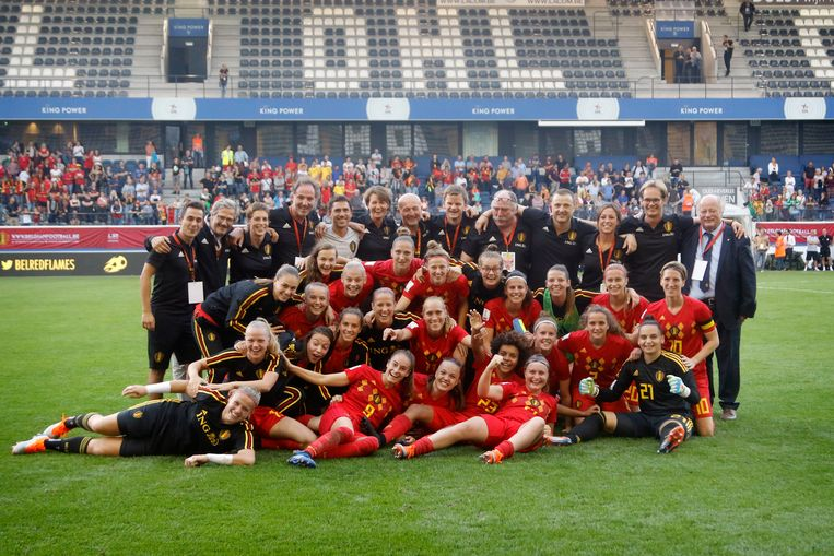 Belgium - Leuven  - voetbal - illustratie of Belgium during the Women's 2019 World Cup Qualifier Group F match between Belgium and Italy at Den Dreef Stadium on September 4 2018 in Leuven, Belgium, 04/09/2018 foto Davy Rietbergen/Cor Vos © 2018 © Photo News  ! only BELGIUM !