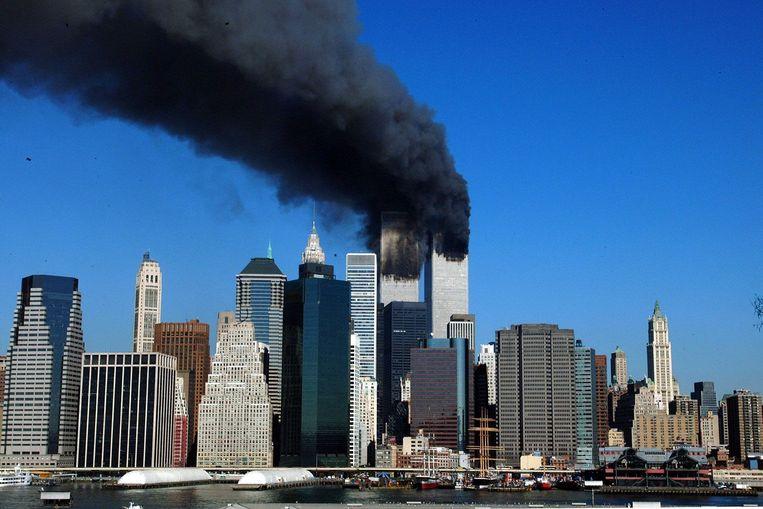 De aanslagen op de Twin Towers op 11 september 2001. Beeld BELGA