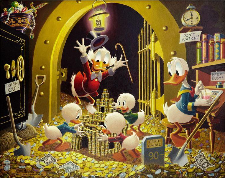 Een schilderij van Carl Barks. Beeld EPA