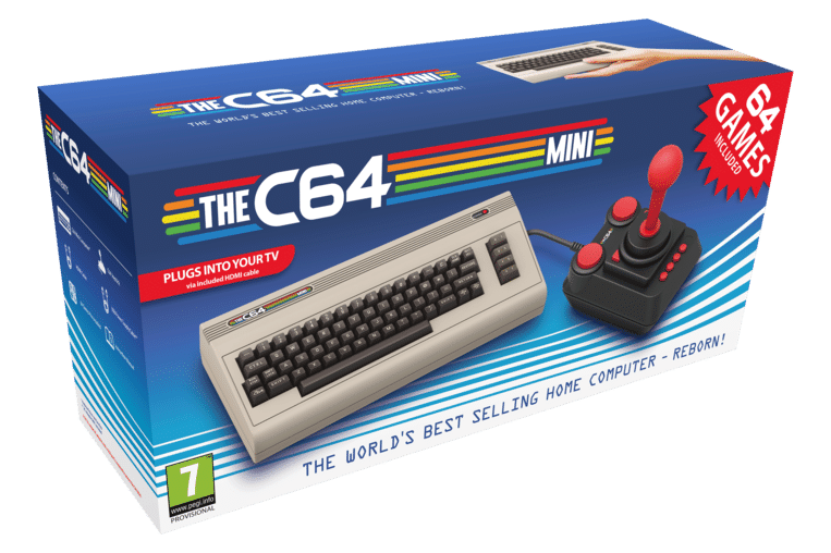 Doos van The C64 Mini. Beeld Koch Media