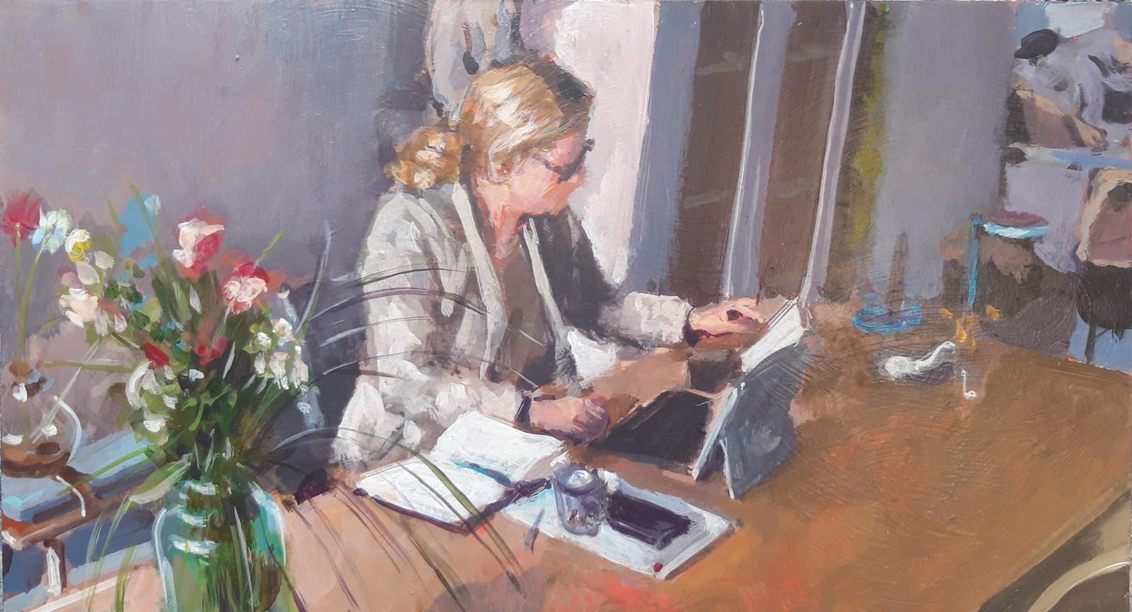 Wethouder, geschilderd door Diederik Grootjans