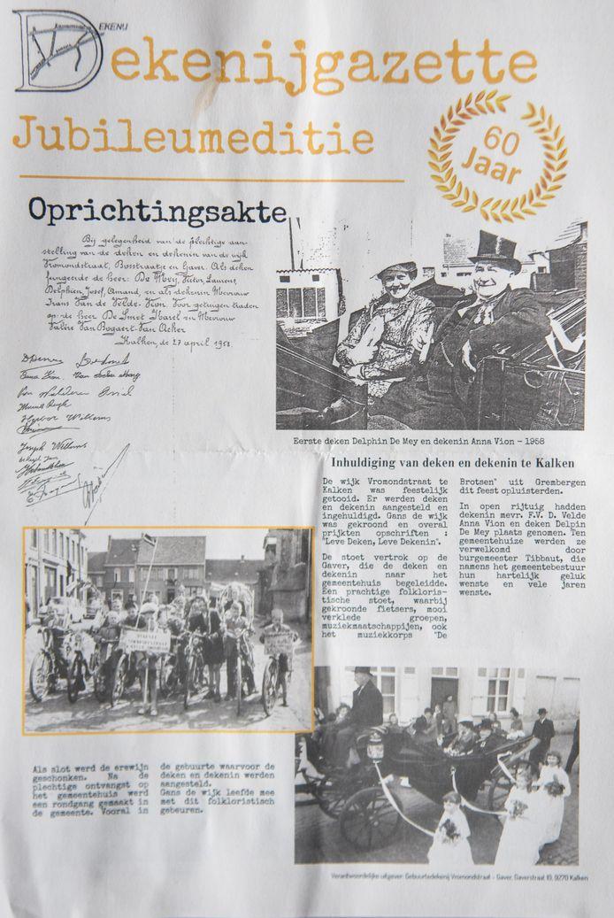 Viering 60 jaar Dekenij Vromondstraat Kalken
