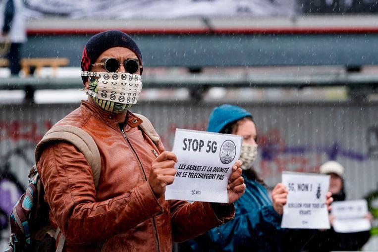 Ook de klimaatactiegroep Extinction Rebellion is tegen 5G. Beeld AFP