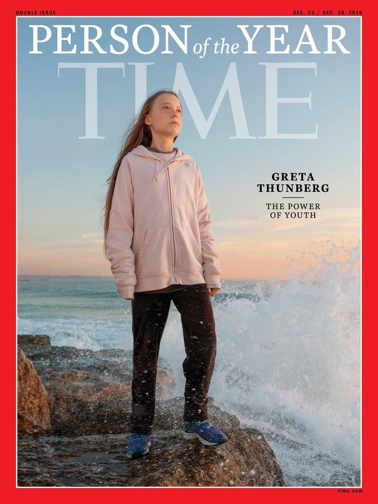 'Time' riep Thunberg eind vorig jaar uit tot Persoon van het Jaar. Beeld Photo News