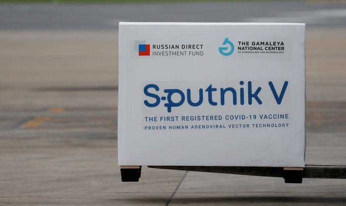 Une cargaison de Spoutnik-V à son arrivée à l'aéroport de Buenos Aires, le 28 janvier