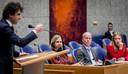 Cora van Nieuwenhuizen (minister van Infrastructuur en Waterstaat), Raymond Knops (staatssecretaris van Binnenlandse Zaken) en Carola Schouten (minister van Landbouw, Natuur en Voedselkwaliteit) tijdens het debat met de Tweede Kamer over de aanpak van de stikstofproblematiek.