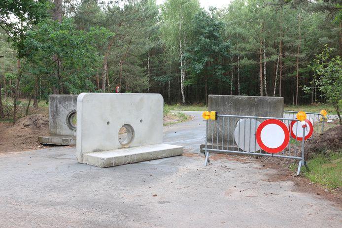 De grensovergang bij de zogeheten Leugenbarak aan de Beverbeekse Heide.