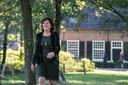 Leny Poppe-de Looff  op haar favoriete stek in de gemeente: natuurgebied de Buissche Heide in Achtmaal