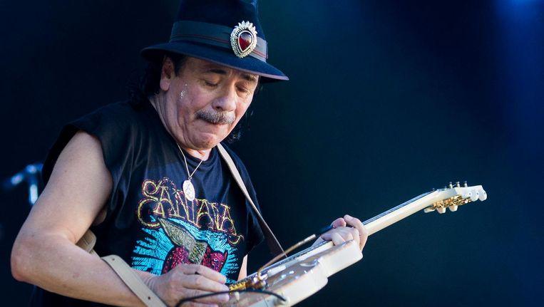 Het album Supernatural, waarop hij met tal van bekende zangers en zangeressen samenwerkte, leverde Santana met Maria Maria zijn grootste hit in Nederland op. Beeld anp
