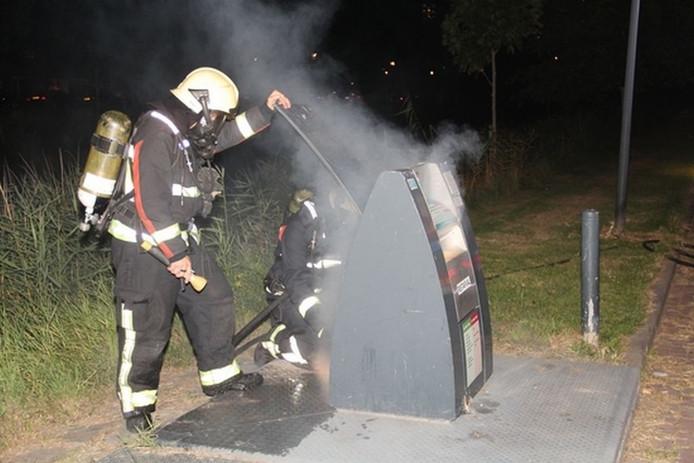 De Vlissingse brandweer bluste het vuur.
