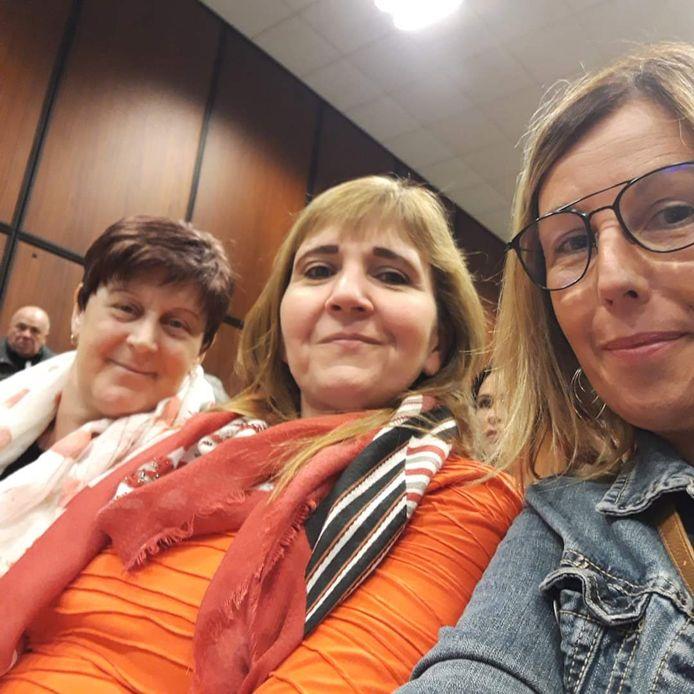 Catherine Cassivelan en compagnie de Valérie Ancia et de Carine Preudhomme