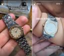 Lío met zijn horloge.