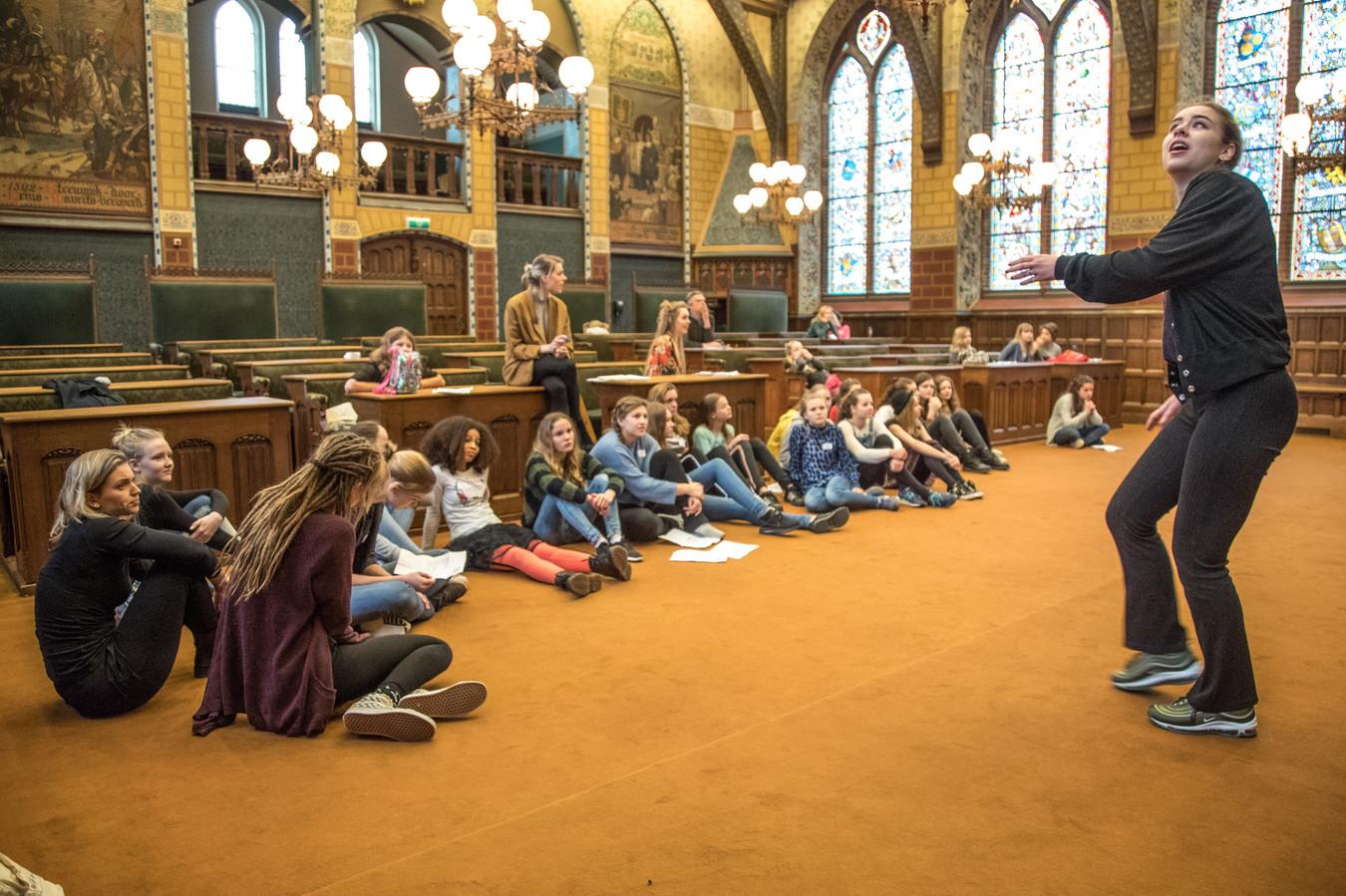 De audities voor het theaterspektakel werden in de Oude Statenzaal in Zwolle gehouden. Foto Frans Paalman Zwolle © 2018