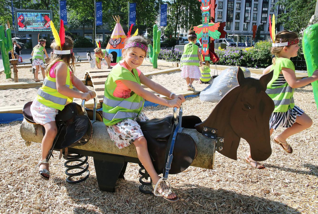Heuleplaats krijgt een zomerspeelplein, zoals op de Grote Markt in Kortrijk.