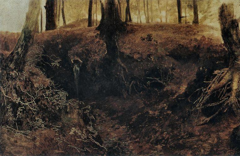 Matthijs Maris: De oorsprong (Bosgezicht te Oosterbeek), ca. 1860. Kunstmuseum Den Haag.  Collectie Kunstmuseum Den Haag Beeld Alamy Stock Photo
