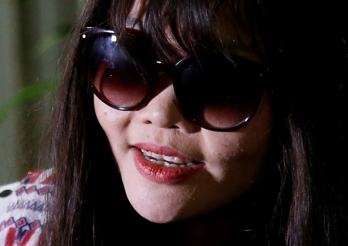 Doan Thi Huong bij haar thuiskomst in Vietnam.