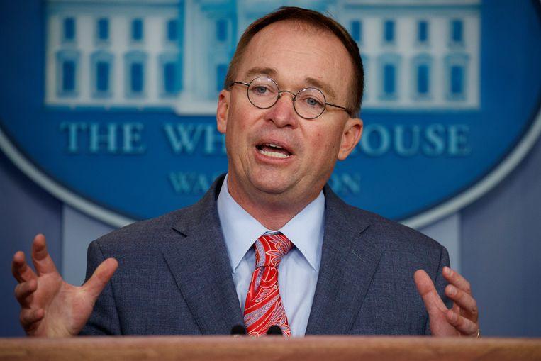 Mick Mulvaney, stafchef van het Witte Huis. Beeld AP