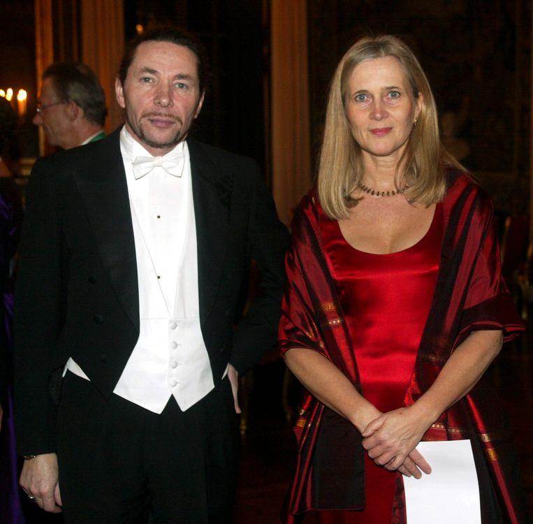 Academielid Katarina Frostenson en haar man Jean-Claude Arnault moesten opstappen. Beeld AFP