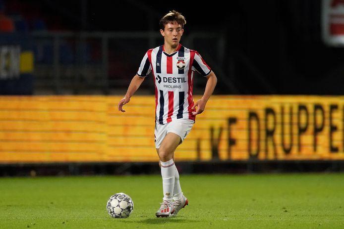 Rick Zuijderwijk maakte zijn eerste goal in een officiele wedstrijd voor Willem II.