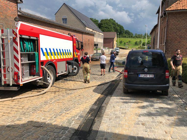 De brandweer ontving 150 oproepen voor wateroverlast in de regio Sint-Truiden. Beeld BELGAONTHESPOT