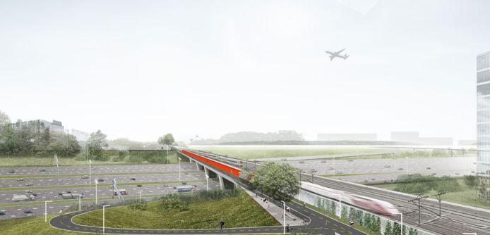 De fietsbrug over de Brusselse ring tussen Zaventem en Diegem zou eind volgend jaar klaar moeten zijn.