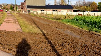 Modder, modder en nog meer modder rond de Koornmolen