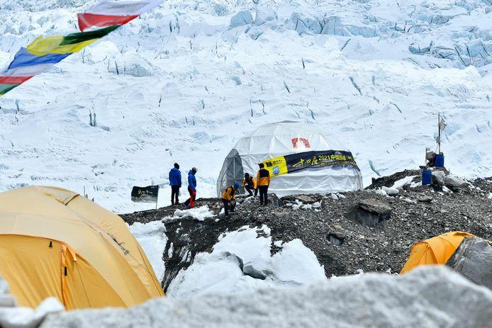Het basiskamp van de Mount Everest.