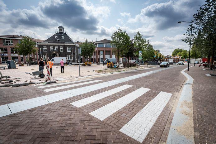 Valkenswaard ED2021-12494 De vernieuwde Markt in Valkenswaard.